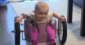 Parents use Pinterest to make their daughter a wheelchair