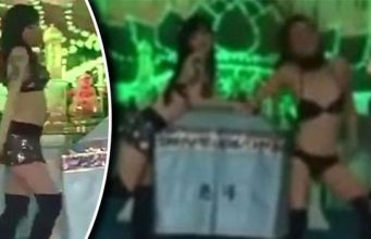 Grieving wife orders STRIPPERS to perform in front of mourners at husband's funeral