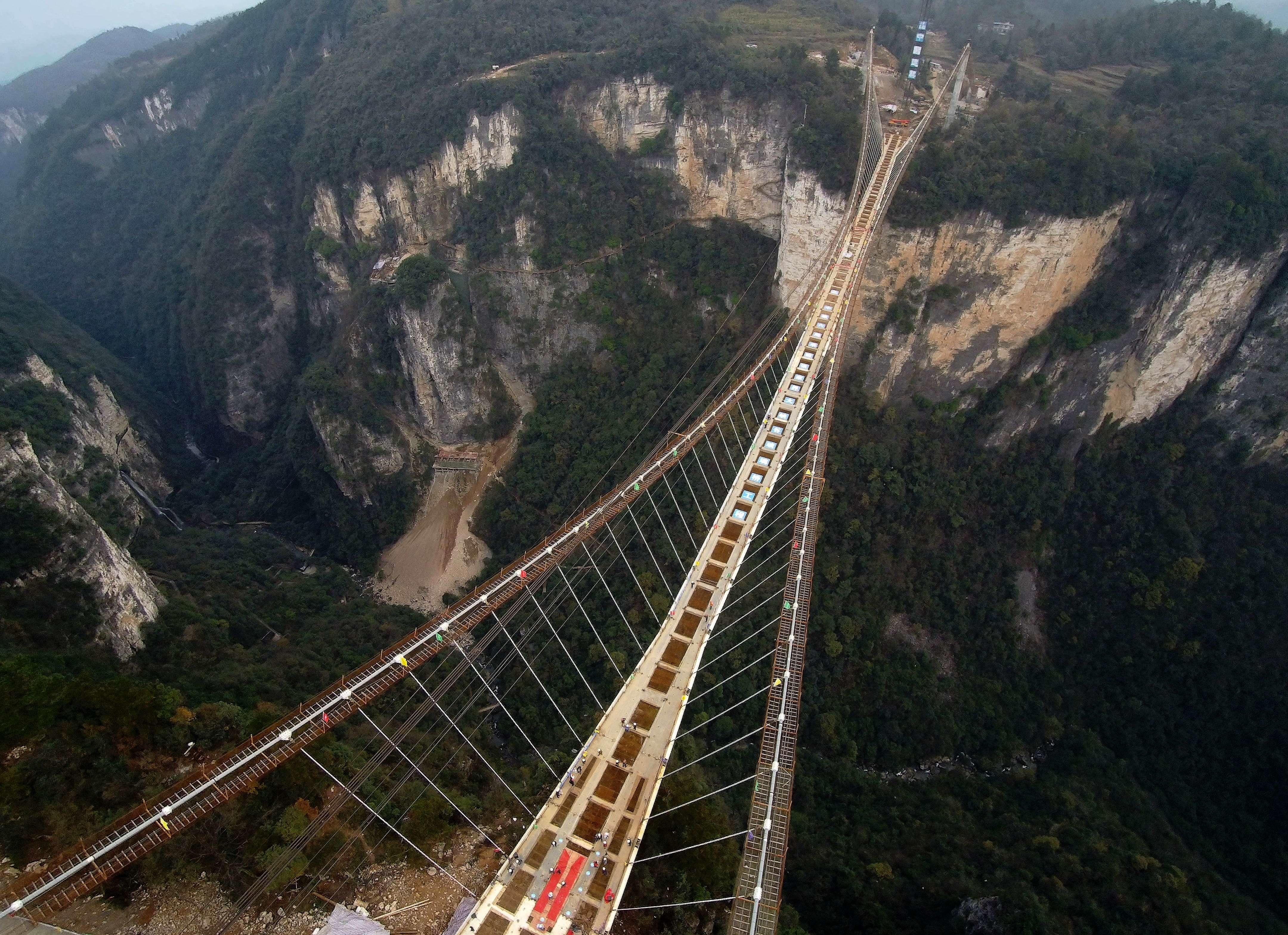 Terrifying Glass-Bottomed Bridge