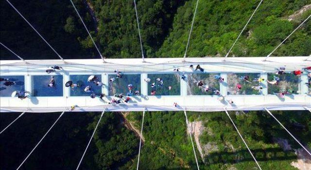 Terrifying Glass-Bottomed Bridge