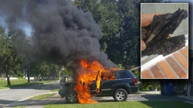 Family's Car Destroyed by Exploding Samsung Phone That Was Recalled 3 Days Earlier