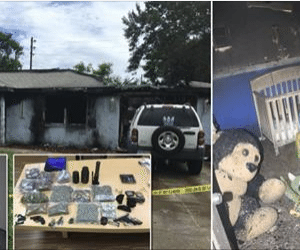 Man Grabs His Drugs - but Leaves Baby and Dogs Behind - as House Burns