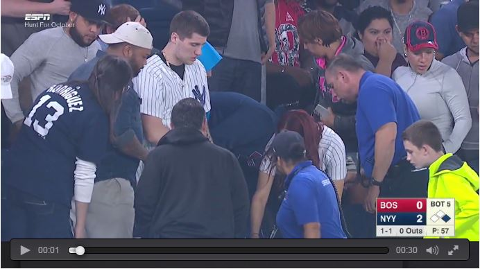 Lost Ring During Proposal At Major League Baseball Game