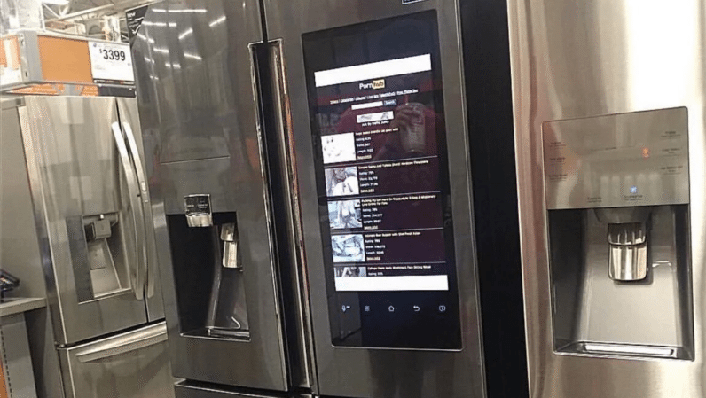This Pornhub-powered smart fridge is Home Depot's new bestseller
