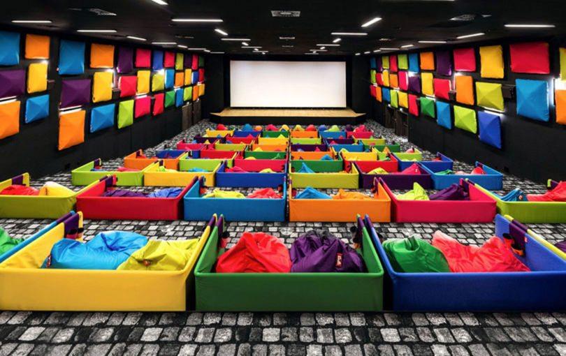 cozy cinema was designed for snuggling