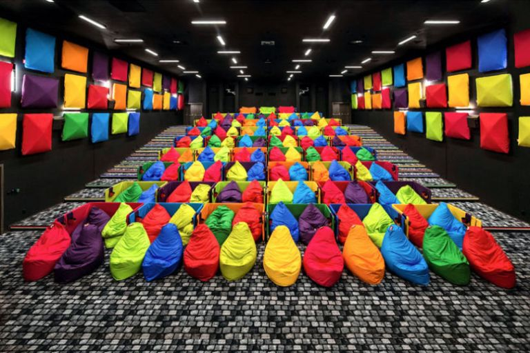 cozy cinema was designed for snuggling