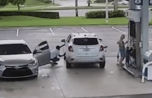 This is why you should always lock your doors when you pump gas