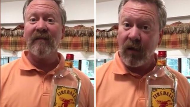 dad responds when he found an empty whiskey bottle