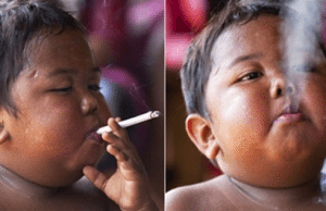 REMEMBER THE BABY WHO SMOKED 40 CIGARETTES A DAY