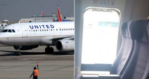 Woman opens plane's emergency exit and jumps out