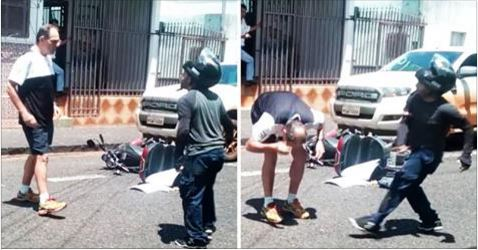 Dude Takes Hammer to the Head After Getting in Argument with Motorcyclist