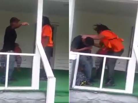 Beat down after cheating