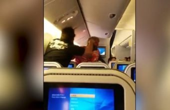 Fight on flight from Japan to LA