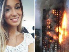 burning building in London