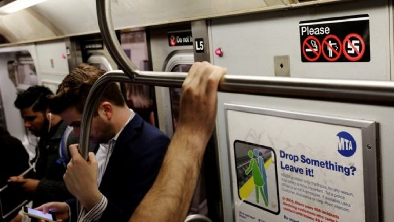 NY Subway rider wakes up to man peeing on her face