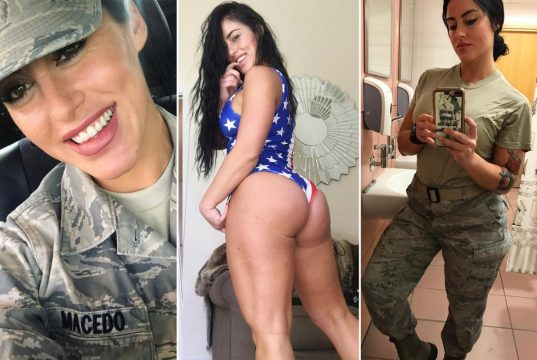 Air Force fitness model just wants to serve her country